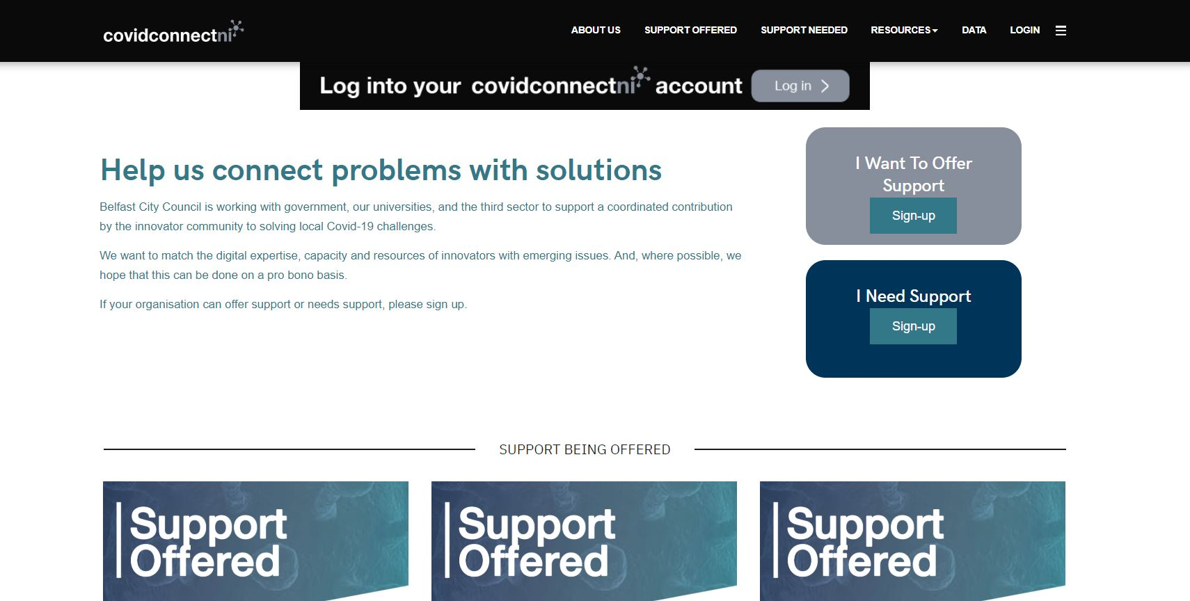 Covid Connect NI website screenshot.JPG